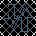Ups Downs Arrow Icon