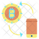 Bitcoin Mobile Transaction Transaction Bitcoin Payment Icon