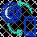 Bitcoin Mobile Transaction Transaction Bitcoin Payment Icon
