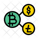 Transaction Exchange Currencies Icon