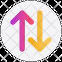 Arrows Transaction Up Icon