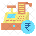 Transaction Invoice Rupees Till Supplier Cash Register Icon