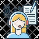 Transcription Blue Icon