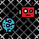 Lightbulb Robot Upload Icon