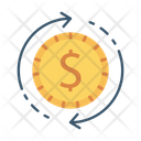 Transfer Exchange Coin Icon