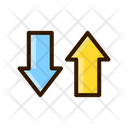 Transfer Up Down Transering Icon