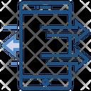 Data Analytics Mobile Transfer Icon