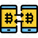 Transfer Bitcoin Cryptocurrency Icon