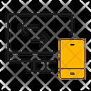 Platform Transfer Computer Icon