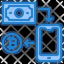 Transfer Bitcoin Icon
