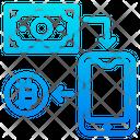 Bitcoin Mobilephone Coin Icon