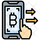 Transfer Bitcoin Transfer Money Mobile Phone Icon