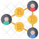 Transfer Network Bitcoin Icon