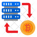 Transfer Bitcoin Server Icon