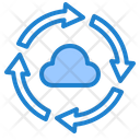 Transfer Cloud Data Icon