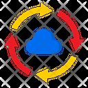 Transfer Cloud Data Icon
