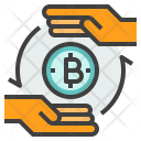 Transfer Cryptocurrency Icon