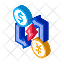 Transfer Different Currencies Icon