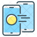 Cryptocurrency Mobile Money Icon