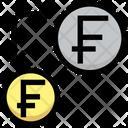 Transfer Money Transfercurrency Franc Icon