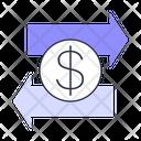 Transfer Money Transfer Paying Icon