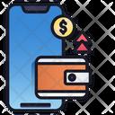 Transfer Money Finance Mobile Icon