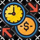 Transfer Money Time Icon