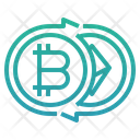 Transfer Of Digital Asset Exchange Transaction Icon