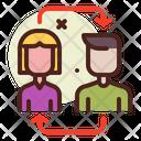 Transfer Virus Transfer Employee Virus Spreading Icon