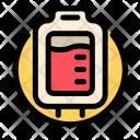Medical Transfusion Bag Icon