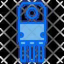 Semiconductor Transistor Chip Icon