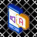 Smartphone Translator App Icon