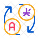 Language Translation Arrows Icon