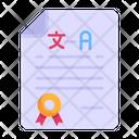 Translation Certificate Icon