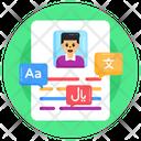 Student Form Language Form Translation Form Icon