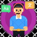 Translation Service Translation Support Translation Operator Icon