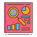 Transparency Search Analysis Pie Cahrt Icon