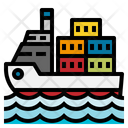 Transport Boat Ship Icon