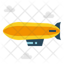 Transport Zeppelin Flying Icon
