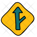 Road Exit Transport Icon