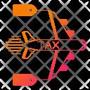 Plane Taxes Transport Icon