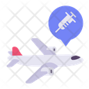 Plane Delivery Vaccine Icon