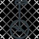 Transportation Retro Unicycle Icon