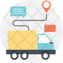 Transportation Delivery Routing Icon