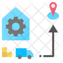 Transportation Delivery Distribution Icon
