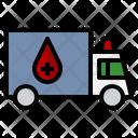 Transportation Truck Red Cross Icon
