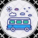 Transportation Van Truck Icon