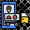 Transportation Logistics Digital Transformation Iot Tracker Supply Chain Icon