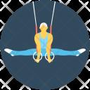 Trapeze Rings Acrobat Icon