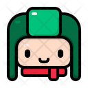 Trapper Hat Winter Christmas Icon